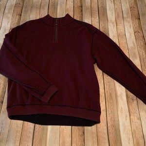 Tommy Bahama men's reversible zip pullover